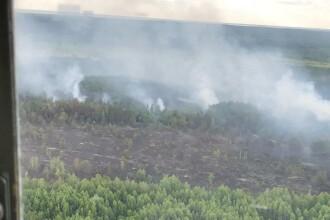 Incendiile continuă în apropierea centralei de la Cernobîl. La ce nivel a ajuns radioactivitatea