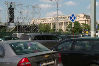 """Miting PSD. Sunt anunțați """"peste 200.000 de oameni"""". Un elicopter va survola Bucureştiul"""