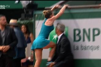 Primul gest pe care l-a făcut Simona Halep după ce a câștigat finala. A sărit în tribună
