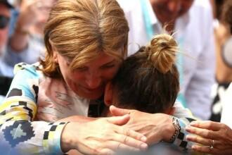 Reacția mamei lui Halep când liderul mondial a făcut break în setul 3. VIDEO