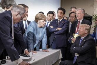O fotografie cu Merkel și Trump de la summit-ul G7 a ajuns virală pe rețelele de socializare