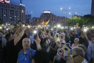 """Protest în Piața Victoriei. """"M-a enervat discursul lui Dragnea"""". VIDEO"""
