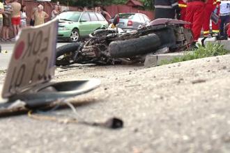 Un motociclist de 32 de ani a murit în Cluj, după ce a fost lovit de o șoferiță