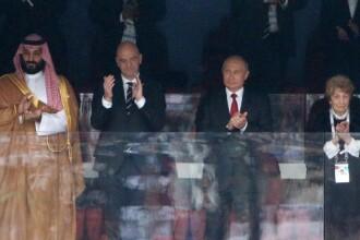 Reacția virală a lui Putin, atunci când Rusia marchează primul gol la Cupa Mondială. VIDEO