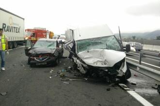 Accident cu 4 morţi şi 3 răniţi, pe A1, lângă Simeria. O maşină a ajuns pe contrasens