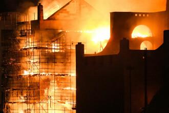 Clădire istorică celebră din Glasgow, distrusă de un incendiu. VIDEO
