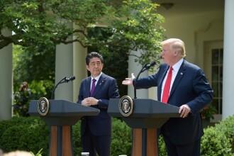 Trump l-a ameninţat pe premierul Japoniei.