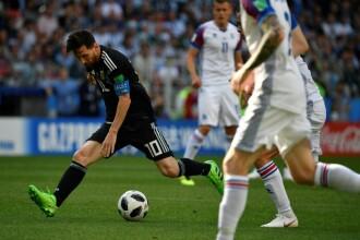 Argentina - Islanda 1-1. Prima surpriză de la CM din Rusia. Messi a ratat un penalty