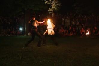 Festivalul Luminii, la Cluj. Lupte medievale cu arme în flăcări