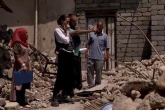 Angelina Jolie face apel pentru reconstruirea orașului Moşul, distrus de jihadiști