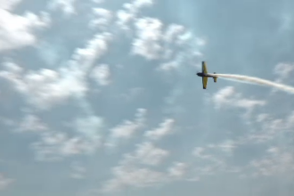 Spectacol aviatic impresionant, la Buzău. Spectatorii au admirat supersonice F16