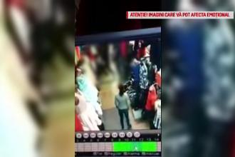 Scene şocante, într-un magazin din Baia Mare! Vânzătoare, snopită în bătaie de o clientă
