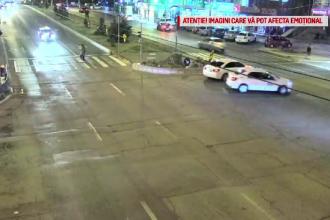 Adolescentă de 16 ani, lovită de un taximetrist pe trecerea de pietoni. Camerele au surprins accidentul
