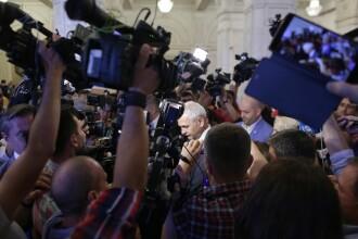 Reacția lui Liviu Dragnea la protestul de pe holul Parlamentului