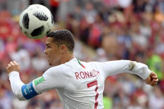 Cupa mondială 2018. Portugalia, victorie cu Maroc. Ronaldo a înscris singurul gol al partidei