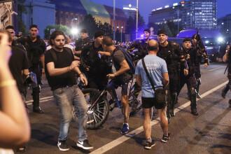 Mii de persoane au protestat în București. Incidente între manifestanți și jandarmi