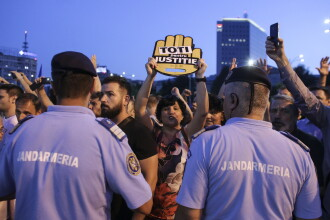 Câți oameni au fost duși la Jandarmerie în urma protestului din Piața Victoriei