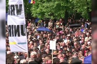 Protest cu mii de oameni, la Chișinău. Oamenii sunt nemulțumiți că mandatul primarului a fost invalidat