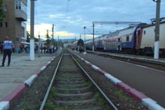 Accident șocant în gara din Tg. Jiu, după ce un bărbat și-a dat seama că a urcat în trenul greșit