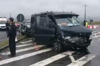 Microbuz cu persoane, implicat într-un accident în Teleorman. Planul roşu de intervenţie, activat