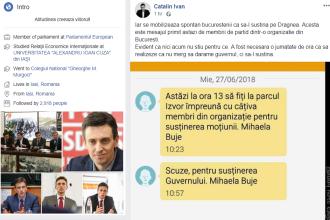 """Un mesaj pe care l-ar fi primit membrii PSD, dezvăluit de Cătălin Ivan: """"Iar se mobilizează spontan"""""""