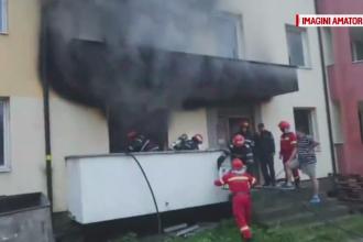 Imobil nou de apartamente, încă nelocuit, mistuit de un incendiu puternic