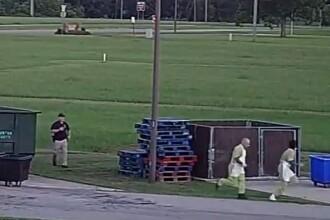 Momentul în care doi deținuți reușesc să evadeze dintr-o închisoare. VIDEO