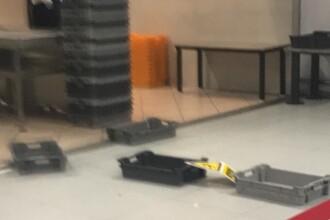 Aeroportul Otopeni, afectat de ploile abundente. Inundație la terminalul de pasageri