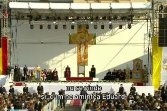 """Papa Francisc, discurs la Iași: """"România este Grădina Maicii Domnului"""""""