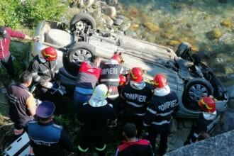 Accident grav în Gorj. Trei morți după ce o mașină a căzut de pe un pod