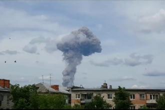 """Explozia uriașă, cu 70 de răniți: """"Norul de fum seamănă cu o ciupercă atomică"""""""