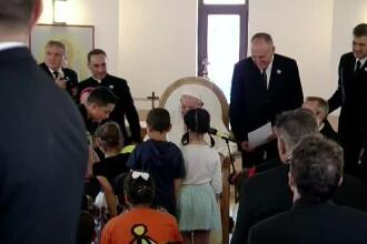Papa Francisc le-a cerut iertare romilor, la Blaj. Comparații biblice cu Cain și Abel