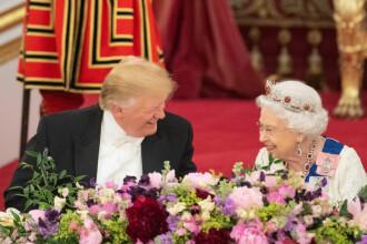 Imagini spectaculoase de la dineul oferit de Regină în cinstea lui Trump. GALERIE FOTO