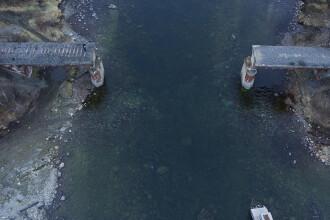 Pod feroviar de 56 de tone, furat de hoții de fier vechi. Cum au acționat. VIDEO
