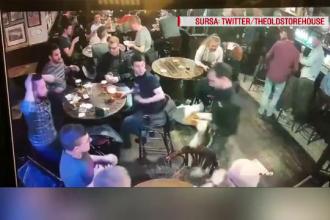 Pățania prin care au trecut clienții unui bar, din cauza unui chelner ghinionist