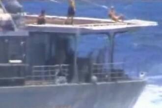 Ipostaza în care au fost filmați rușii pe distrugătorul aflat aproape de coliziune cu nava SUA