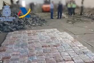 Momentul în care polițiștii au descoperit droguri ascunse în roci artificiale. VIDEO