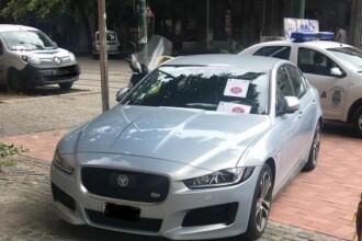 Șoferul unui Jaguar a primit 7 amenzi în Timișoara în câteva luni. Mesajul Poliției