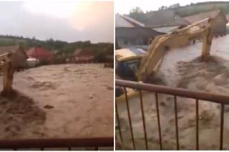 Viitură puternică în Bistrița: oamenii avertizați prin Ro-alert să se adăpostească. VIDEO