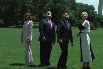 Un F35 a survolat Casa Albă, chiar sub privirile lui Trump. Ce s-a întâmplat la Washington