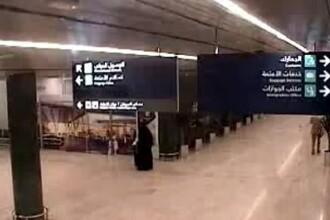 Momentul în care o rachetă a lovit un aeroport din Arabia Saudită