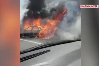 A fost la un pas de moarte, după ce mașina i-a luat foc. Detaliul care l-a salvat