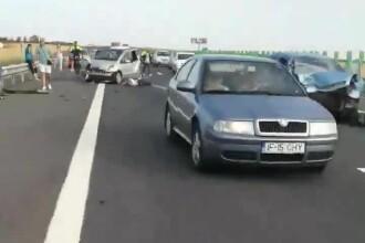 Tragedie pe Autostrada Soarelui. Victima era pe banda de urgență, la portbagajul mașinii