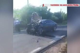 Imagini din Galați, unde un polițist a ucis 2 oameni încercând să evite un câine