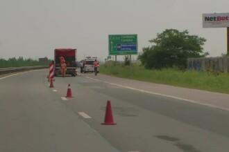 Căldura a dilatat dalele de beton de pe A2. Traficul a fost restricționat pentru reparații