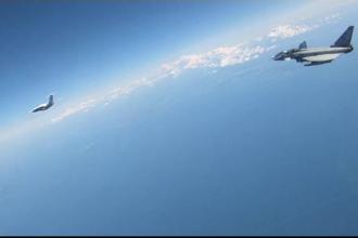 Momentul în care mai multe avioane militare rusești sunt interceptate în Estonia