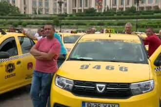 """Taximetriștii s-au """"retras"""" la un protest. Sunt nemulțumiți iar de Uber, Bolt și Clever"""