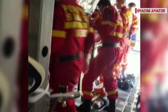 Trafic blocat pe DN 1. Doi răniți, în urma unui grav accident