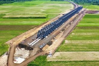 Imagini de pe șantierul căii ferate de mare viteză din vestul ţării