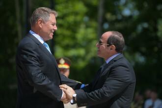 Președintele egiptean Abdel Fattah El-Sisi, primit de Iohannis. Despre ce au discutat